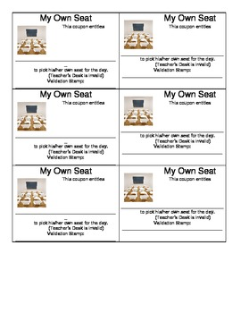 Pick Own Seat Praise Coupon