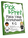 Hundreds, Tens, Ones Place Value Worksheets 3 Digits Below Kinder Grade 1, 2