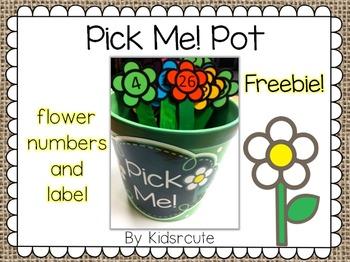 Pick Sticks Flower Pot {Freebie}