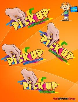 Pick-Up Game - Addition, Subtraction, Multiplication & Division {BUNDLE}