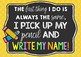 Pick Up My Pencil and Write My Name Poster