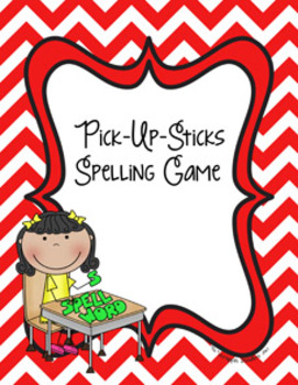 Pick-Up Sticks Spelling Game