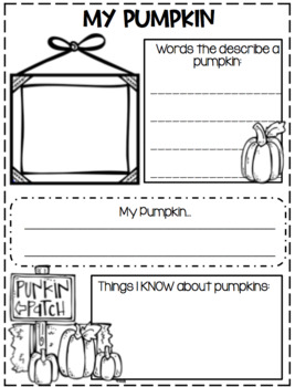 Pumpkins...From seed to Jack-o-lantern...Informational Text, Writing, Craft!