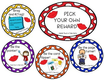 Pick Your Own Reward - Low Cost/No Cost Speech-Language Therapy Rewards