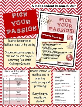 Pick Your Passion - Independent Research Unit