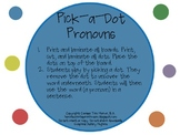 Pick-a-Dot Pronouns: Expressive Language and Grammar Activity