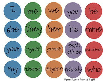 Pick-a-Dot Pronouns: Expressive Language and Grammar Activity