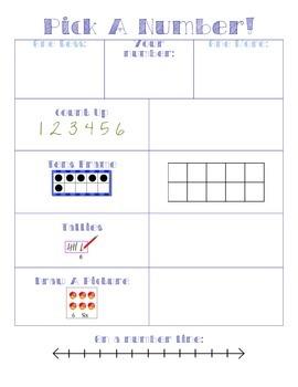 Pick a Number Math Center
