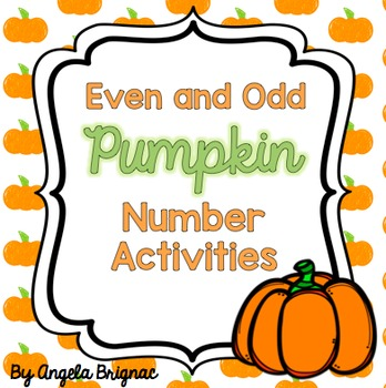 pick a pumpkin even and odd number center identifying sorting