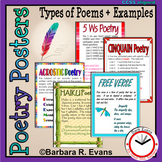 POETRY POSTERS Poetry Types Descriptions Examples Anchor Charts Writing Center