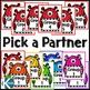 Pick a Partner Cards: Monster Themed