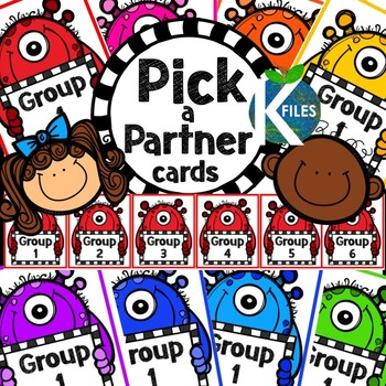 Pick a Partner Cards with Monster Theme