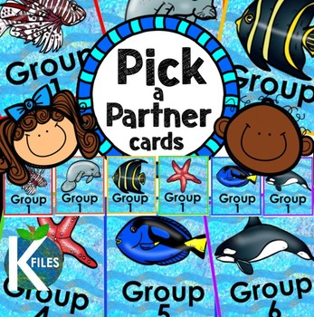 Pick a Partner Cards: Ocean and Fish Theme