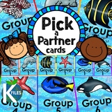 Pick a Partner Cards with Ocean and Fish Theme