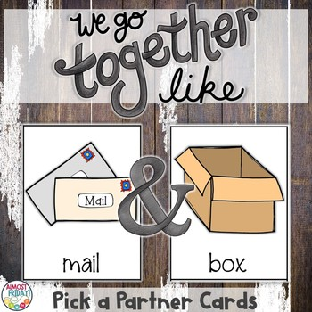 Pick a Partner Compound Word Cards for Student Grouping