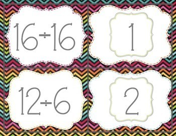 Pick a Partner Division Problem Cards for Student Grouping