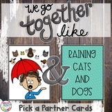 Pick a Partner | Idioms | Cards for Student Grouping