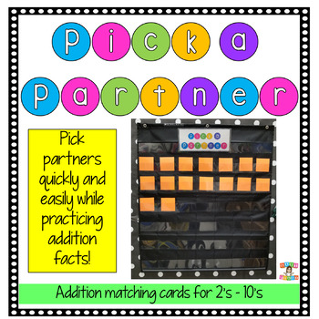 Pick a Partner Matching Game-Addition