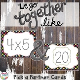 Pick a Partner Multiplication Problem Cards for Student Grouping