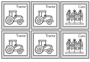 Pick a Partner Cards Student Group Farm Theme