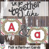 Pick a Partner Uppercase and Lowercase Alphabet Cards for Student Grouping