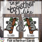 Pick a Partner Zoo Animal Cards for Student Grouping