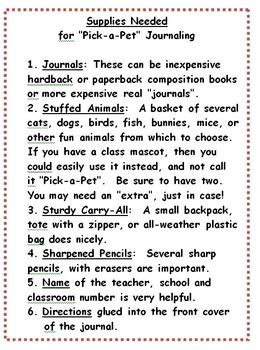 First Grade Traveling Journal