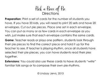 Pick a Piece of Pie Rhythm Game: Bundled Set