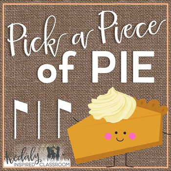 Pick a Piece of Pie Rhythm Game: syncopa