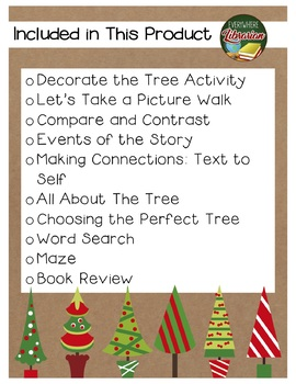 Pick a Pine Tree by Toht 10 Book Extension Activities NO PREP *Christmas*