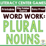 Pick-a-Plural {File Folder Game for Practicing Singular and Plural Nouns}