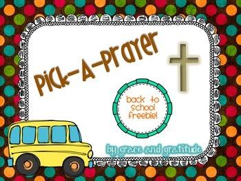 Pick-a-Prayer: Back to School Edition