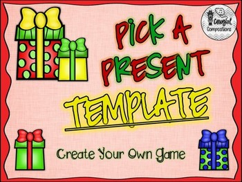 Pick a Present Template  - Create Your Own Game