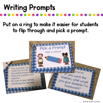 Pick a Writing Prompt - Back to School Version