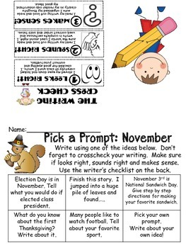 Pick a Prompt: Monthly Writing Journal Prompts
