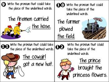 Pick a Pronoun Scoot Game