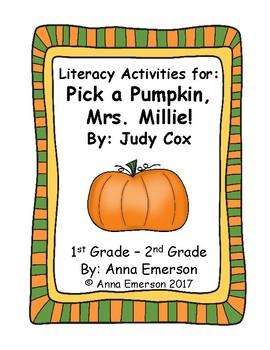 pick a pumpkin mrs millie literacy activities by anna emerson