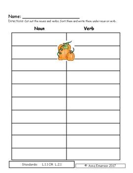Pick a Pumpkin, Mrs. Millie! Literacy Activities
