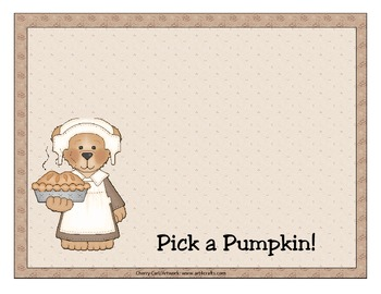 Pick a Pumpkin Number Order Literacy Activity