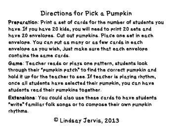 Pick a Pumpkin Rhythm Game: ta rest