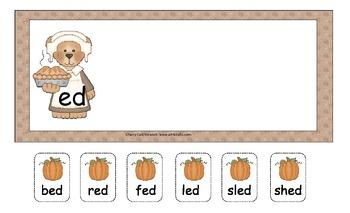 Pick a Pumpkin! Short E Sorting Literacy Center