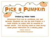 Pick a Pumpkin: Using Tens Frames to Match Numerals to Sets