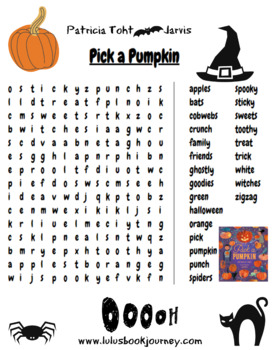 Pick a Pumpkin Word Search (Based on the book by Patricia Toht)