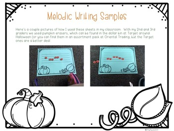 Pick-a Pumpkin: a set of melodic games for reading and writing la