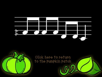 Pick-a Pumpkin: a set of melodic games for reading and writing low sol