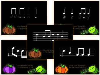 Pick-a Pumpkin: a set of melodic games for reading and writing practice