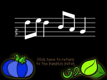 Pick-a Pumpkin: a set of melodic games for reading and writing re (pent)