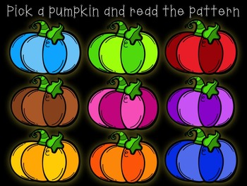 Pick-a Pumpkin: a set of rhythmic games for reading and writing ta ti-ti