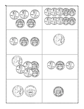 Pick a Pumpkin building Counting coins *No Prep*