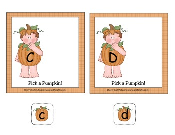 Pick a Pumpkin for Halloween! Alphabet Match